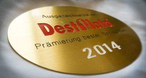 Plakette der Destillata 2014