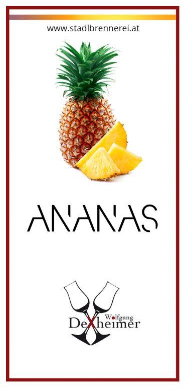Etikett-Ananas