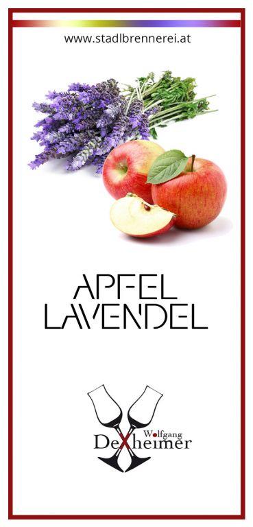 Etikett-Apfel-Lavendel