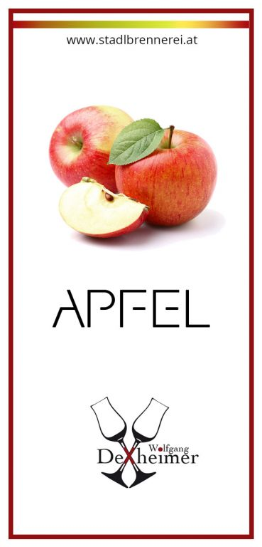 Etikett-Apfel