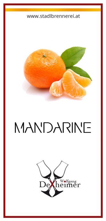 Etikett-Mandarine