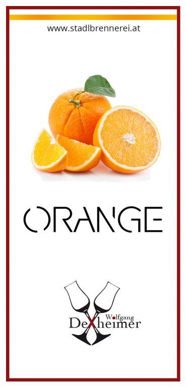 Etikett-Orange