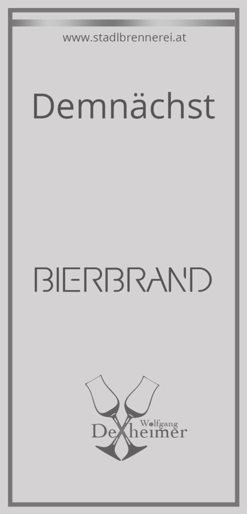 Etikett-Bierbrand
