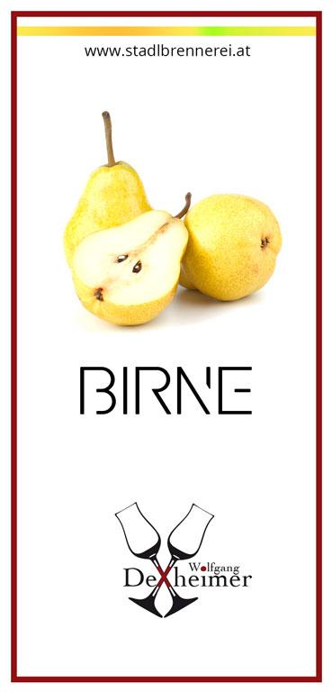 Etikett-Birne